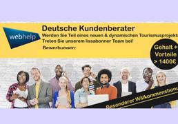 Deutschsprachige Kundenbetreuer (Tourismus) >1400 € + Willkommensbonus (M/F)