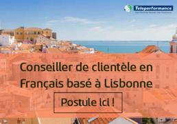Conseiller de clientèle en Français basé à Lisbonne, Portugal (H/F)